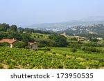 landscape in provence near... | Shutterstock . vector #173950535