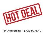 hot deal rubber stamp. red hot... | Shutterstock .eps vector #1739507642