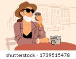 illustration of a young woman... | Shutterstock .eps vector #1739515478