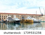 Genoa, Italy - July 11, 2019: Old Port of Genoa (Porto antico di Genova). Is used as a marina, residential and tourist center - stock photo