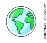 globe with different continents ...   Shutterstock .eps vector #1739537225