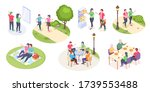 couple daily life and outdoor... | Shutterstock .eps vector #1739553488