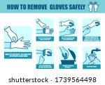 vector medical infographic step ... | Shutterstock .eps vector #1739564498