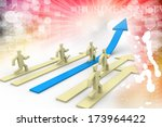 leader of competition | Shutterstock . vector #173964422