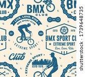 set of bmx extreme sport club... | Shutterstock .eps vector #1739648735
