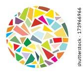 shattered glass round vector | Shutterstock .eps vector #173966966