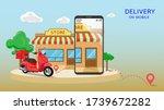 digital marketing and mobile...   Shutterstock .eps vector #1739672282
