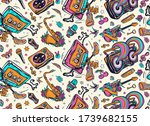 hip hop art. old school music.... | Shutterstock .eps vector #1739682155
