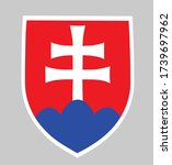 slovakia coat of arms isolated... | Shutterstock .eps vector #1739697962