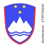 slovenia coat of arms isolated... | Shutterstock .eps vector #1739734262