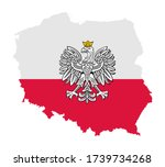 poland map with flag and poland ... | Shutterstock .eps vector #1739734268