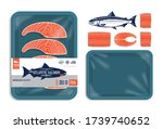 vector atlantic salmon...   Shutterstock .eps vector #1739740652