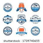 vector salmon logo. salmon fish ...   Shutterstock .eps vector #1739740655
