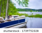 Speedboat On The Background Of...