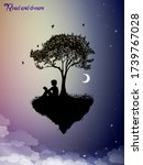 read and dream concept  piece... | Shutterstock .eps vector #1739767028