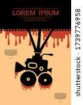 template for festival horror... | Shutterstock .eps vector #1739776958