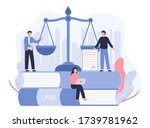 concept law  justice. legal... | Shutterstock .eps vector #1739781962