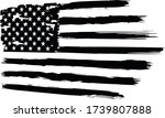 usa flag. distressed american... | Shutterstock .eps vector #1739807888