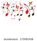 music vector background | Shutterstock .eps vector #173981438