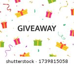 giveaway banner with bright... | Shutterstock .eps vector #1739815058