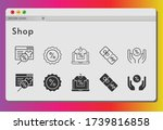shop icon set. included online... | Shutterstock .eps vector #1739816858