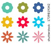 flowers icons set isolated on... | Shutterstock .eps vector #1739819342