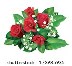 Stock vector a bouquet of red roses 173985935