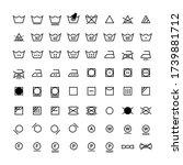 laundry vector icons full... | Shutterstock .eps vector #1739881712