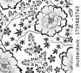 floral pattern. flower seamless ... | Shutterstock .eps vector #1739885765