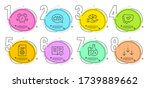 approved  chemistry flask and...   Shutterstock .eps vector #1739889662