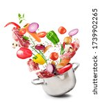 cooking concept. vegetables and ... | Shutterstock . vector #1739902265