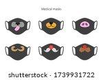 set of medical masks with...   Shutterstock .eps vector #1739931722