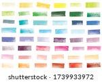 watercolor mini washi tape... | Shutterstock .eps vector #1739933972