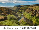 White River canyon near Tygh Valley, Oregon.  White River is a tributary to the Deschutes River.