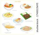 vector illustration icon set of ...   Shutterstock .eps vector #1740015695