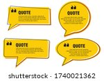 quote frames templates set....   Shutterstock .eps vector #1740021362