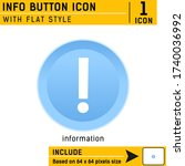 info button premium icon with...