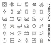 icon set of web. editable...