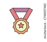 award  medal  star icon. simple ...