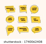 news banner set. information... | Shutterstock .eps vector #1740062408