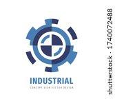 industrial gear logo template... | Shutterstock .eps vector #1740072488