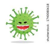emoji coronovirus covid 19 with ...   Shutterstock .eps vector #1740080618