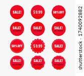 sale banner color of red. label ... | Shutterstock .eps vector #1740092882