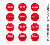 sale banner color of red. label ...   Shutterstock .eps vector #1740092882