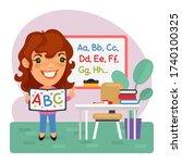 cartoon children's english...   Shutterstock .eps vector #1740100325