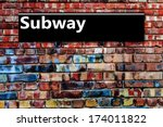 subway or underground sign... | Shutterstock . vector #174011822