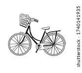 cute bike vector illustration....   Shutterstock .eps vector #1740141935