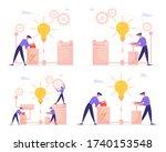 businessmen characters launch...   Shutterstock .eps vector #1740153548