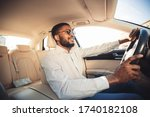 Happy Driver. African Man...