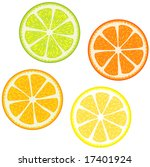 vector illustration of slices... | Shutterstock .eps vector #17401924